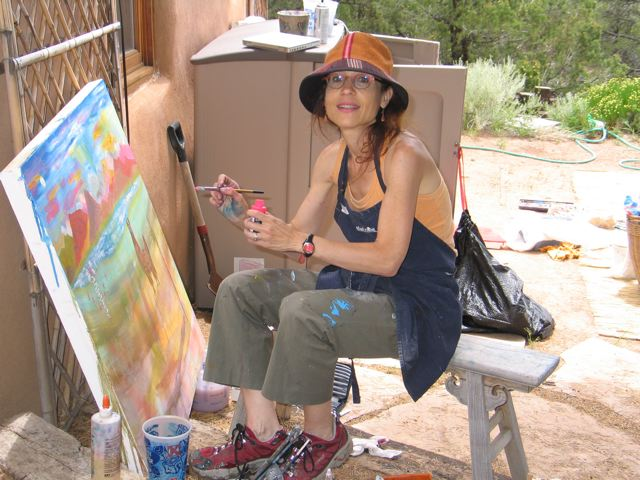 Carol Buchman in the Art Studio